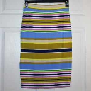Liz Claiborne Maxi Skirt Pencil Striped Sz S Small